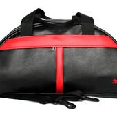 Спортивная женская вместительная сумка с красными элементами (Puma red pol)