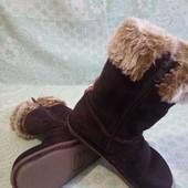 Зимние сапоги Clarks для девочки в идеальном состоянии!!!