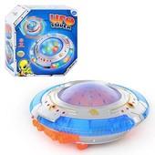 Детская Юла UFO с музыкальными и световыми эффектами, летающая тарелка