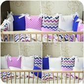 Эксклюзивная защита в кроватку и декоративные подушки,серые и яркие тона тренд 2016