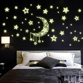 Светящиеся в темноте наклейки на стену и потолок