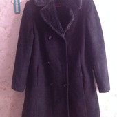 Шерстяное деми-пальто на М р-р. Смотрим замеры и фото в магазине.