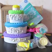 Тесто для лепки Play Doh праздничный торт пластилин для детей плей до hasbro оригинал из сша