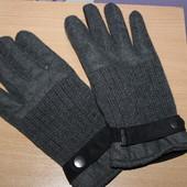 перчатки H&M разм L-XL в составе шерсть сост новых
