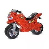 Мотоцикл-беговел 2-х колесний красный Орион 501