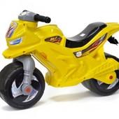 Мотоцикл-беговел 2-х колесний лимонный Орион 501