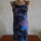 Коктельное платье с напылением в идеальном состоянии S - М