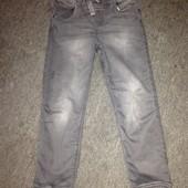 """Плотные джинсы с """"эфектом потертости"""" на 10-11 лет. Смотрим замеры и фото в магазине."""