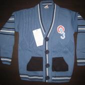 Теплый детский свитер на пуговицах 3,4,5,6,7,8,9 лет Beebaby (Бибеби)