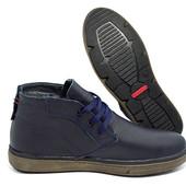 Ботинки Зимние Hilfiger Conor Blue, кожа