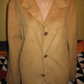 Куртка-пиджак из ткани,имитация замши,р.48(М).