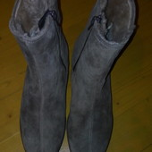 Шикарні зимові чоботи 37-38р нові науральна цигейка
