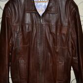 Мужская кожаная куртка, размер 54-56, б/у в отличном состоянии