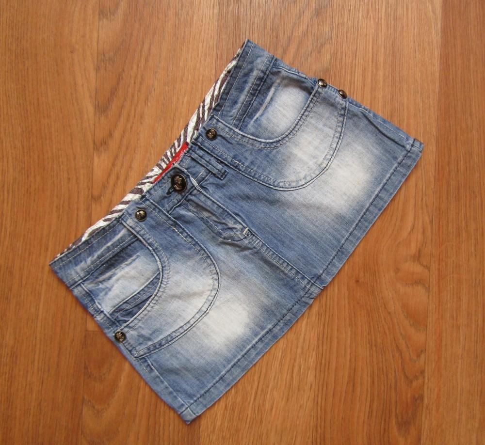 Джинсовая юбка на девочку-подростка состояние отличное! фото №1