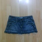 Фирменная джинсовая юбка XS-S