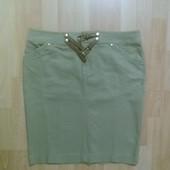 Фирменная джинсовая юбка карандаш L-XL