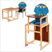Стульчик для кормления трансформер деревянный МV-010-25-1