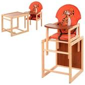 Стульчик для кормления трансформер деревянный МV-010-27-8