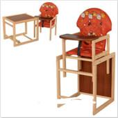 Стульчик для кормления трансформер деревянный МV-010-27-1