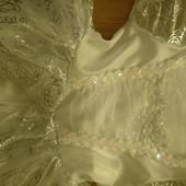 Белоснежное Платье   принцессы) на девочку 5-7 л