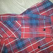 Теплая стильная брендовая рубашка
