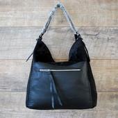 Большая стильная замшевая сумка высокого качества