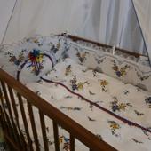 Детское постельное белье в кроватку из 7 эл.(без кармана)-