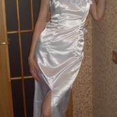Эллегантное свадебное платье + шлейф. Размер 44. Дешево.