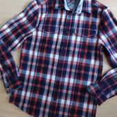 Стильная теплая мужская рубашка в клетку F&F