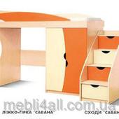 детская мебель кровать Савана и ступеньки -Украина