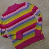 яркий хлопковый свитерок носили на рост 152-158
