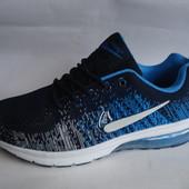 Стильные мужские кроссовки копия nike сетка 41-46р синие