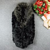 Перепродажа;) S-M New Look удлиненная шубка с пышным мехом! shaf 0189