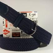 Плетенный Ремень Резинка.110 см. (темно синий)