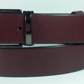 Женский универсальный кожаный ремень (Бордо) 130 см. - 3,5 см.