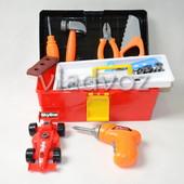 Детский набор инструментов ящик машинка шуруповерт Toolbox Center 2836