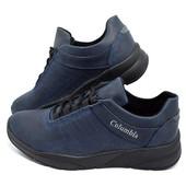 Кроссовки Columbia Blue, кожа