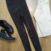 Крутые брюки с кожаными вставками Cambio