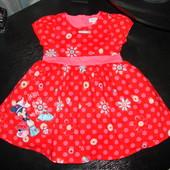красивое нарядное платье Мини Disney х/б 1-1,5 года состояние нового