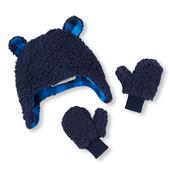 Комплект Шапка и рукавички зимние Childrensplace на мальчика 0-6 и 6-12мес В наличии