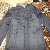 Мужская зимняя стеганная стильная куртка с латами
