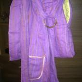 Продам новый льняной слинг с кольцами фиолетового цвета