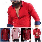 Мужские рубашки! Красные-бордо! Турция!