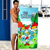 Полотенце Смурфики   Турция банное пляжное
