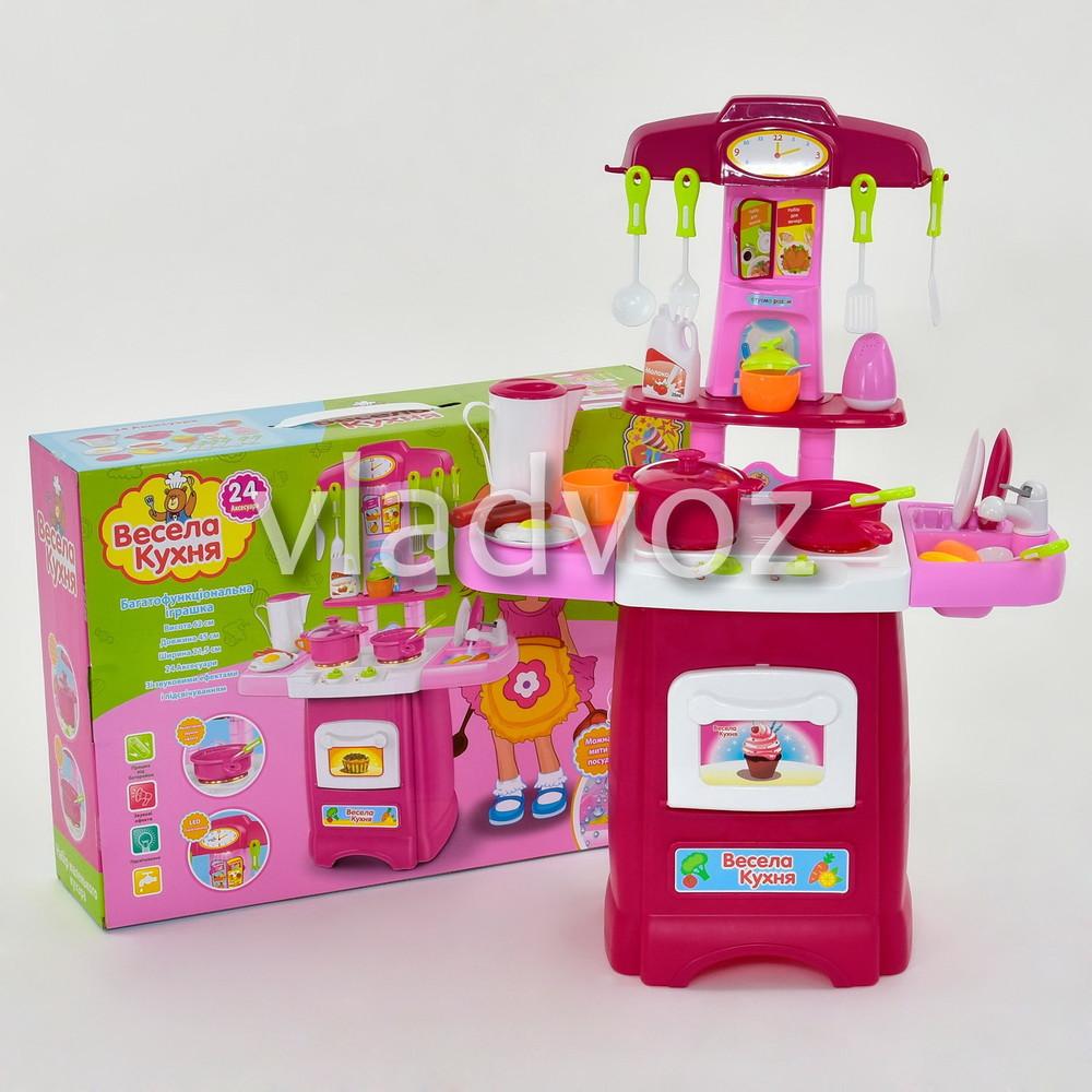 Детская кухня для девочки игрушечная весела cook fun розовая с крана вода 1806 фото №1