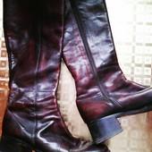 Демисезонные кожаные сапожки 41-42 размер