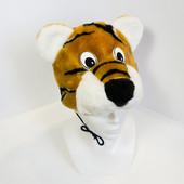 Карнавальный костюм тигра, детская шапочка и маскарадный жилет