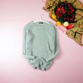 M-L Boohoo серый удлиненный свитер красивой вязки! 0006