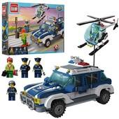 Конструктор»Полиция и вертолет» Brick 1117 393 дет