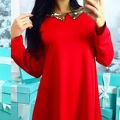 Шикарное нарядное трикотажное женское платье разных цветов